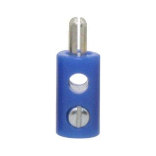 ZWERG STECKER 2,6mm blau