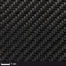 Carbon fabric 160 g/m² (twill) 100 cm, roll/ 0,5 m