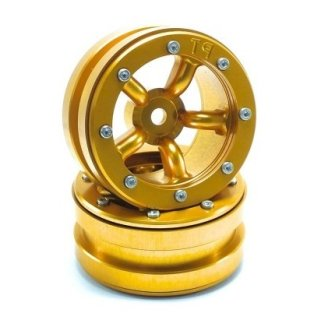 Beadlock Wheels PT-Safari Gold/Gold 1.9 (2 St.)