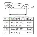 CNC Aluminium 51 mm Servo-Arm Kompatibel mit 23T JR