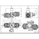 Bull Engine 124 ccm Zweizylinder Benzinmotor