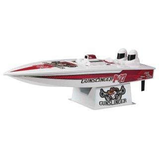 Aquacraft - Modellsatz - Rennboot P-27 Gunslinger Crackerbox - RTR