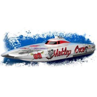 Aquacraft - Modellsatz - Rennboot Motley Crew FE Catamaran - RTR