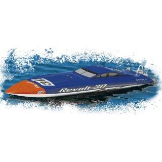 Aquacraft - Modellsatz - Rennboot Revolt 30 FE Mono - Blau / Weiss - RTR