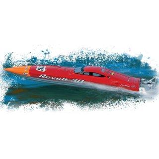 Aquacraft - Modellsatz - Rennboot Revolt 30 FE Mono - Rot / Weiss - RTR