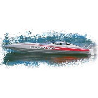 Aquacraft - Modellsatz - Rennboot Revolt 30 FE Mono - Silber / Weiss - RTR