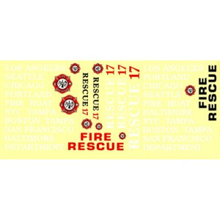 Aquacraft - Decal Sheet Rescue 17